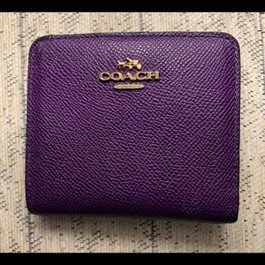 Coach Small Purple Snap Wallet